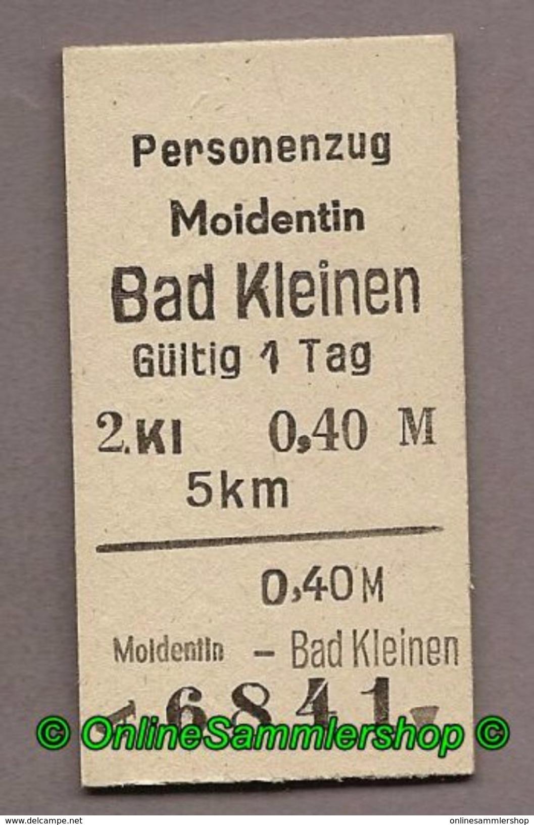 BRD - Fahrkarte (6841) --> Moidentin - Bad Kleinen - Bahn