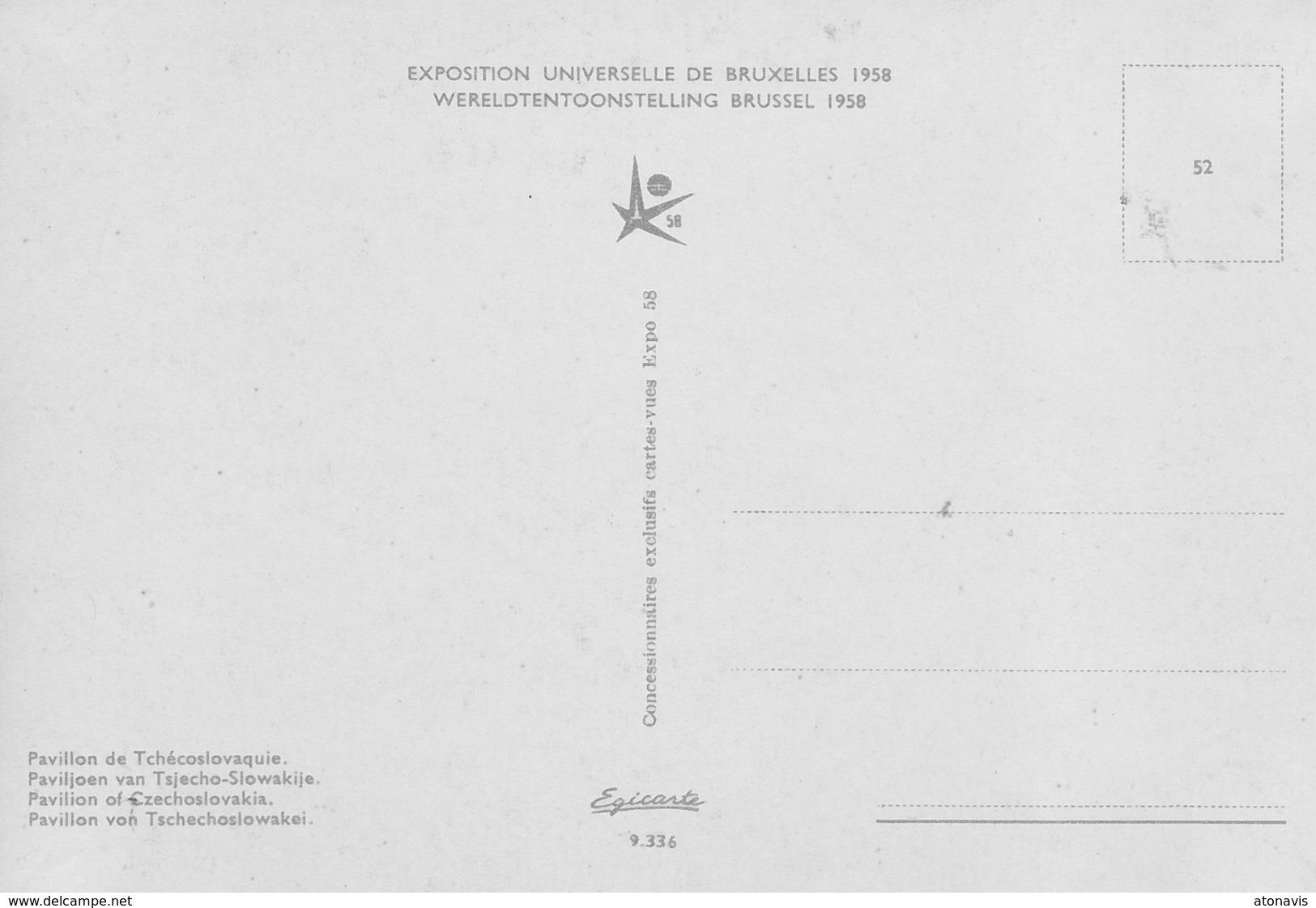 Bruxelles Expo 58 - Pavillon De Tchécoslovaquie. - Expositions Universelles