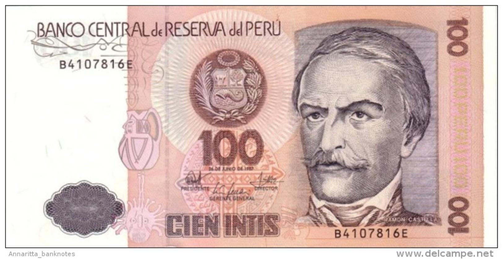PERU 100 INTIS 1987 P-133 UNC  [ PE133 ] - Pérou