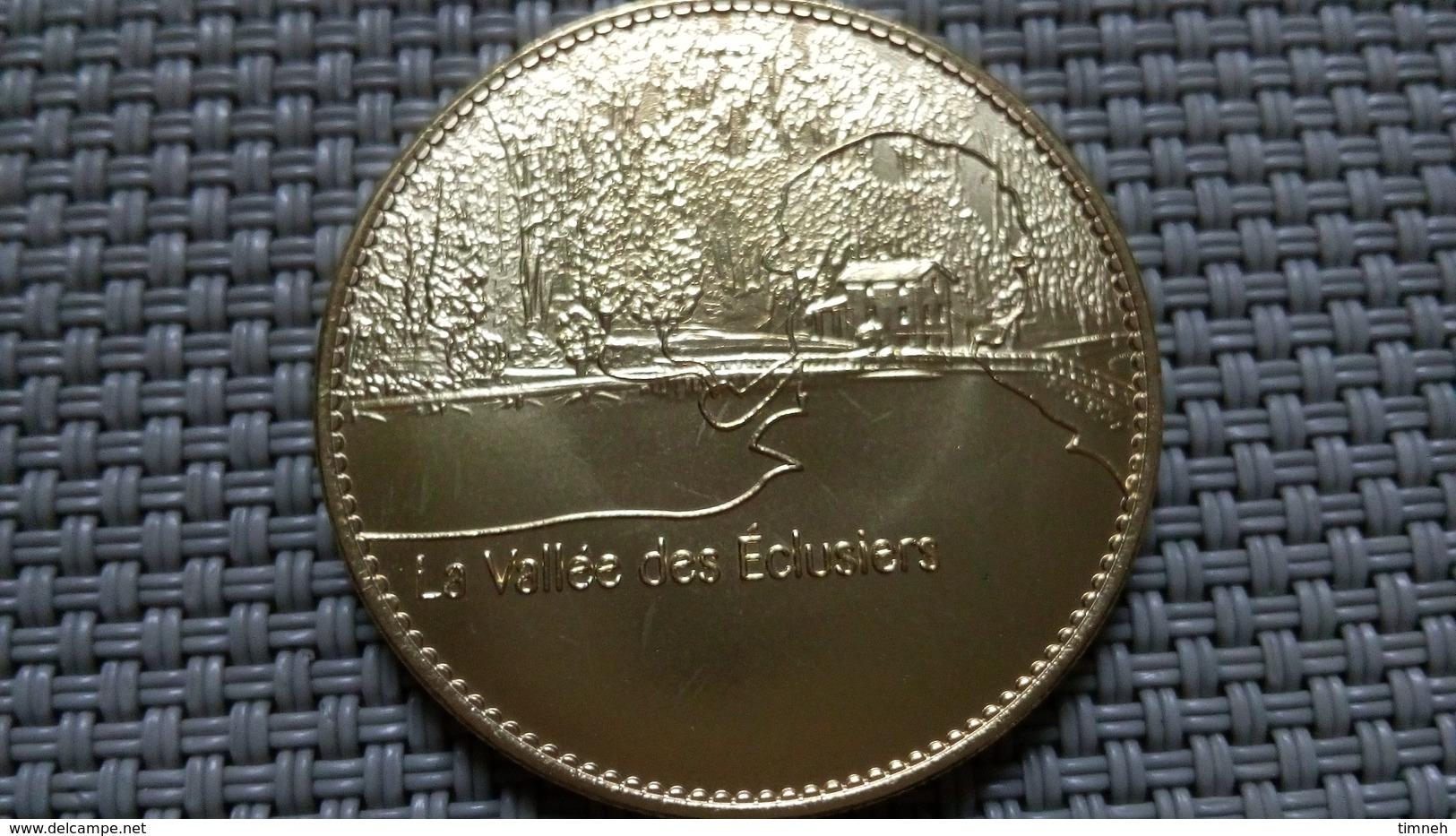 Médaille Touristique Métal Doré - Plan Incliné Saint-Louis Artzviller - La Vallée Des éclusiers - 3.2cm - 15g - Non Classés