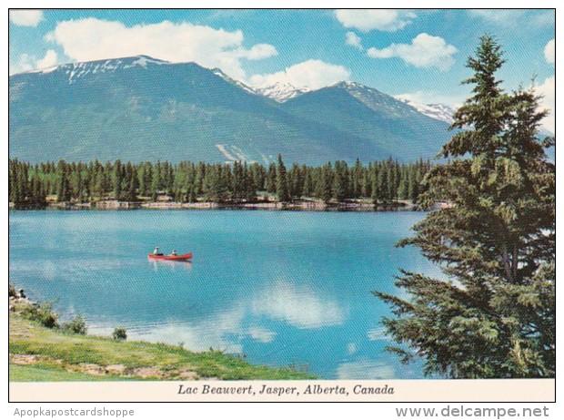 Canada Alberta Jasper View Of Lac Beauvert