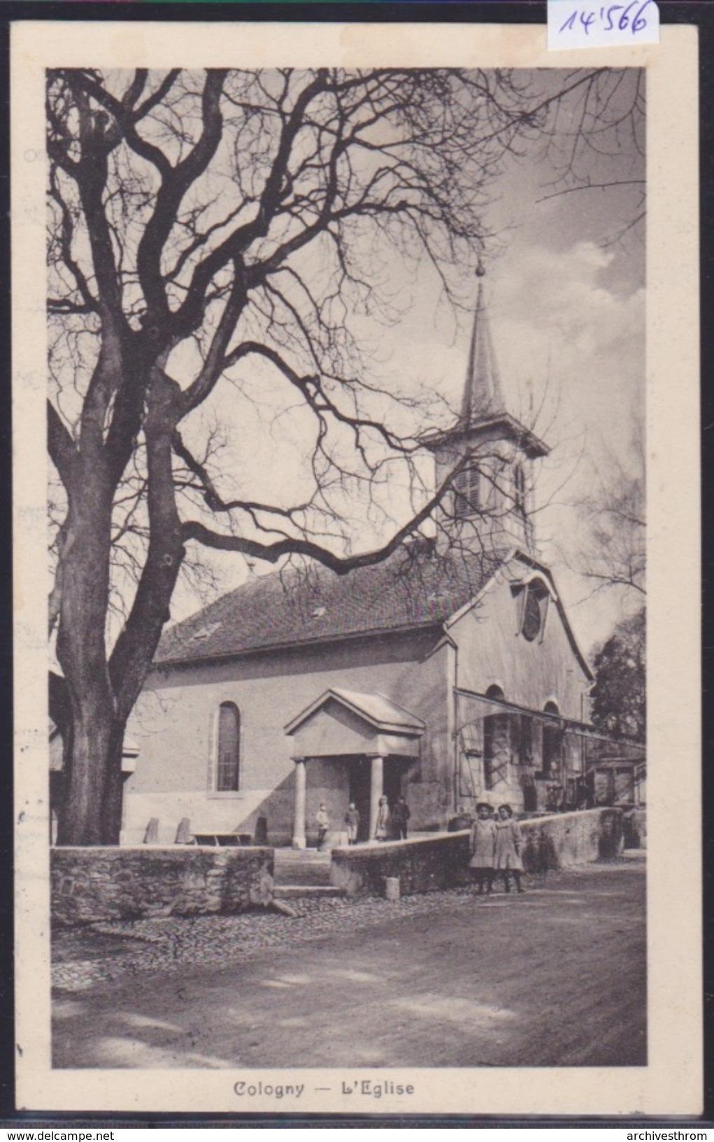Genève Canton - Cologny : L'église, Vers 1913 (14'566) - GE Genève