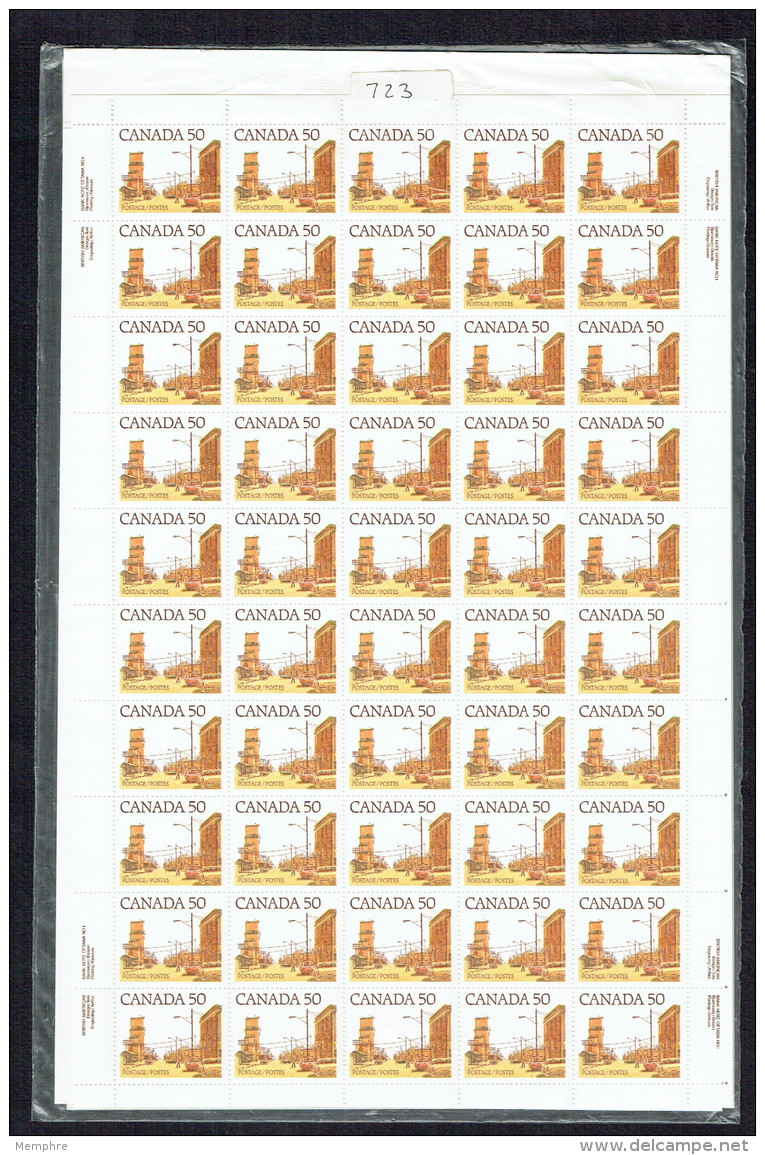 1978   Prairie Street Scene 50¢  Sc 723 Complete Sheet Of 50 In Original Packaging MNH - Full Sheets & Multiples