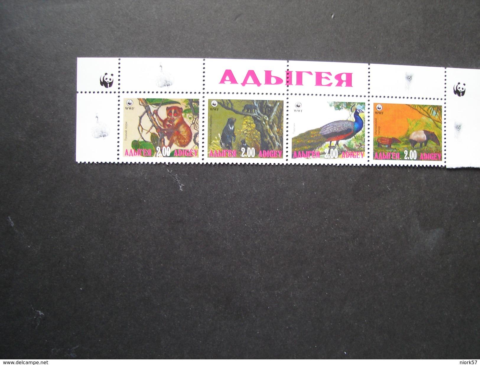 ADIGEY MINT SHEET WWF  BIRDS  ANIMALS - W.W.F.