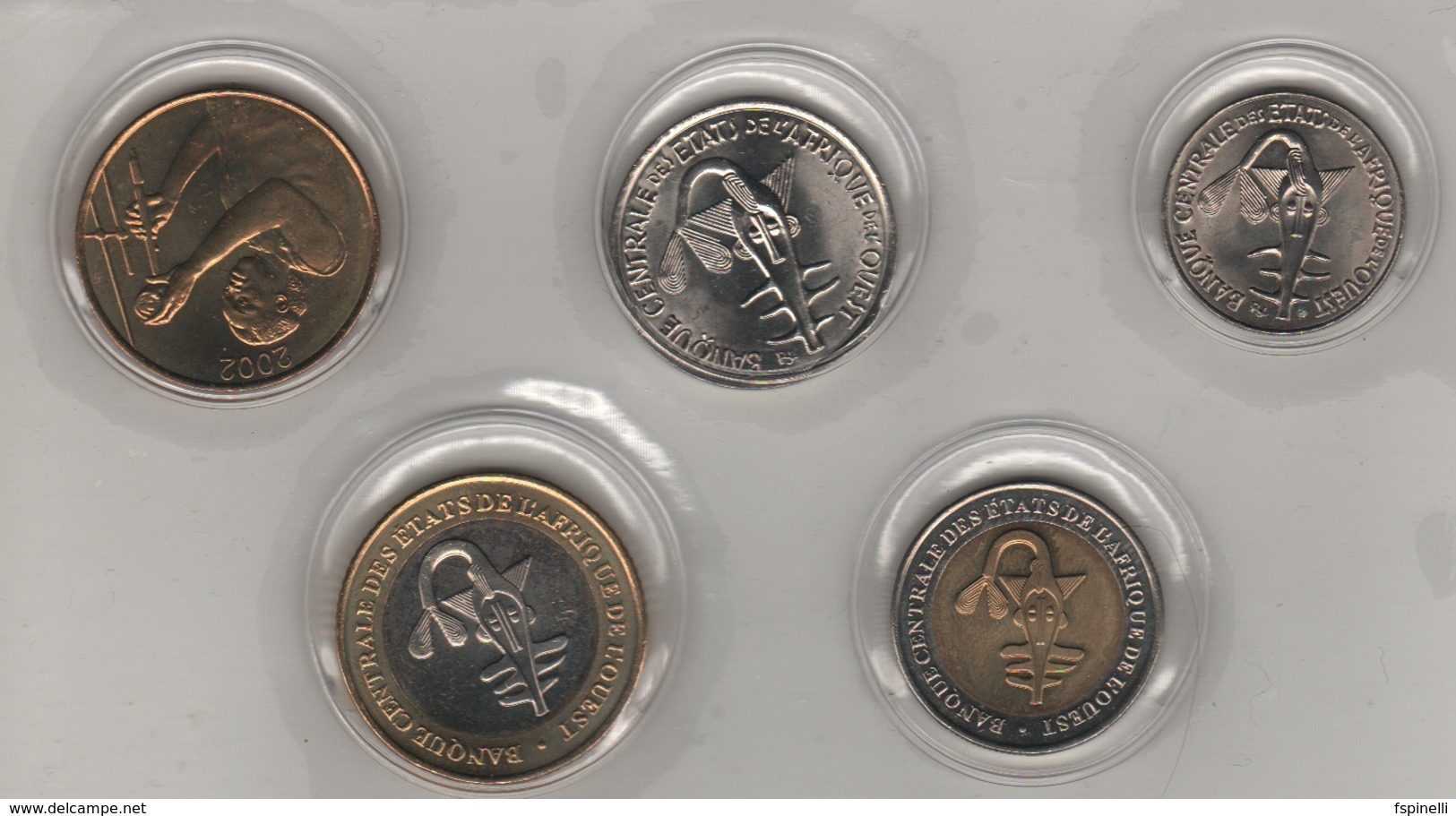 SENEGAL  Set Of 5 Coins 25-50-100-200-500 F.CFA   ( West African States   )   2002-3 - Sénégal