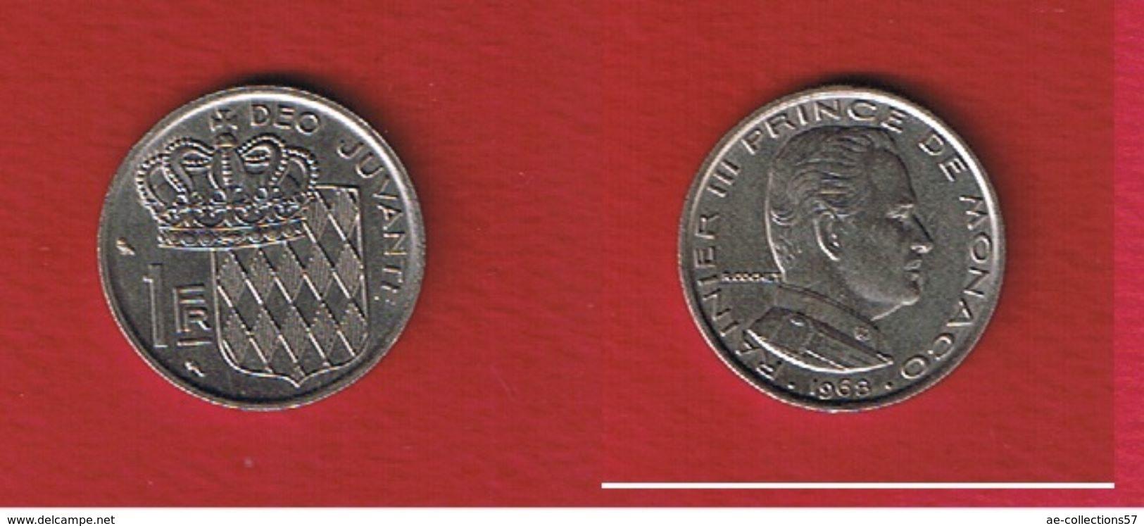 Monaco  -- 1 Franc 1968 --  état  TTB+ - Monaco