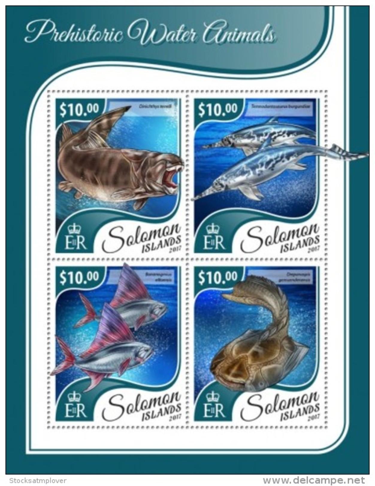 SOLOMON ISLANDS 2017 Prehistoric Water Animals - Solomon Islands (1978-...)