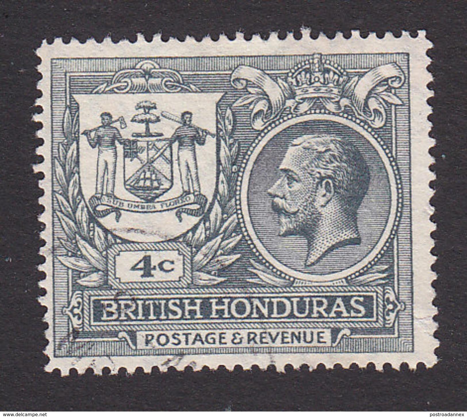 British Honduras, Scott #90, Used, Seal Of The Colony And George V, Issued 1922 - British Honduras (...-1970)