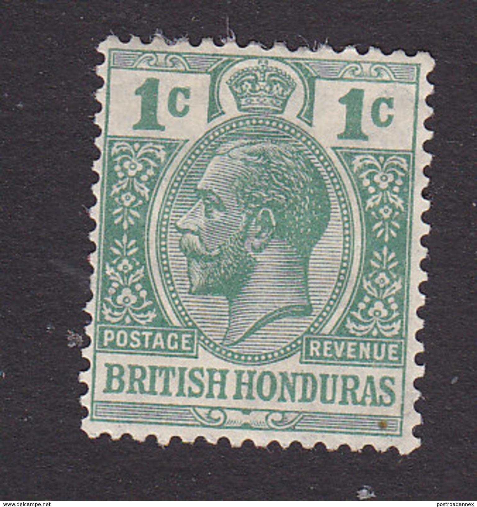 British Honduras, Scott #91, Mint Hinged, George V, Issued 1921 - British Honduras (...-1970)