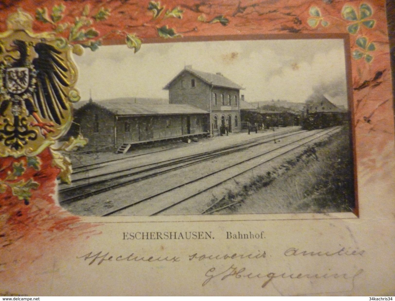 CPA Allemagne Deuschland Eschershausen Basse Saxe Bahnof Gare - Allemagne