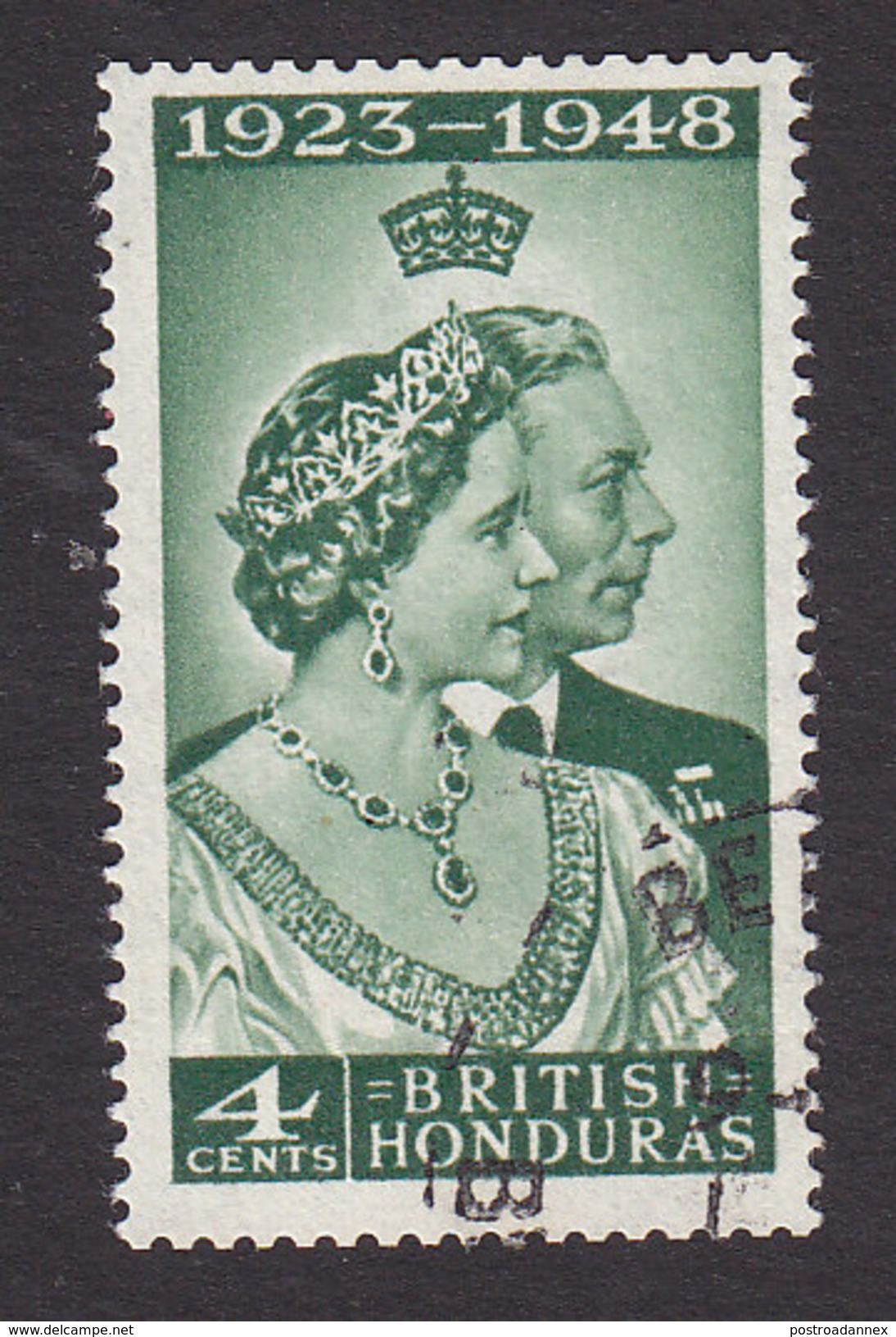 British Honduras, Scott #129, Used, Silver Wedding, Issued 1948 - British Honduras (...-1970)
