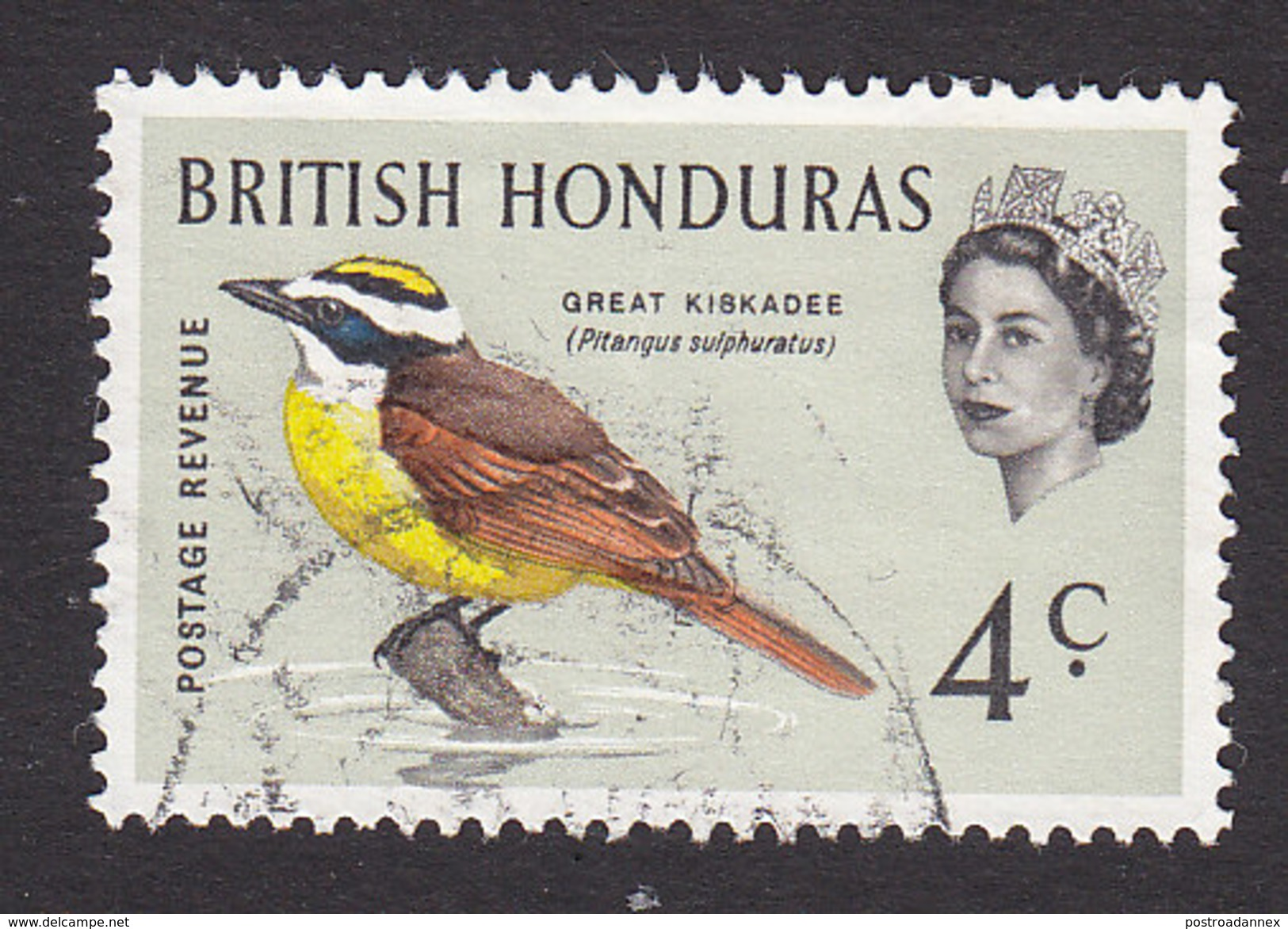 British Honduras, Scott #170, Used, Great Kisadee, Issued 1962 - British Honduras (...-1970)