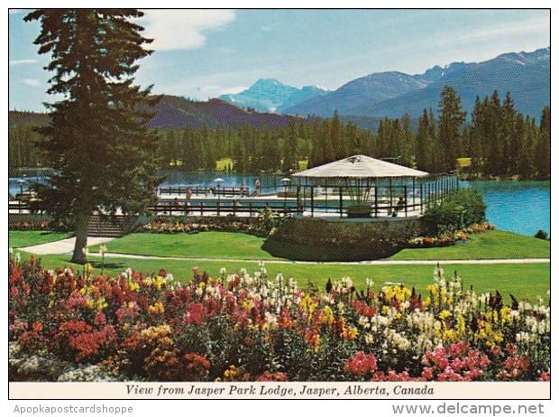 Canada Jasper View From Jasper Park Lodge