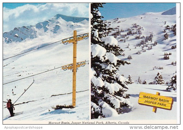 Canada Marmot Basin Skiing Jasper National Park