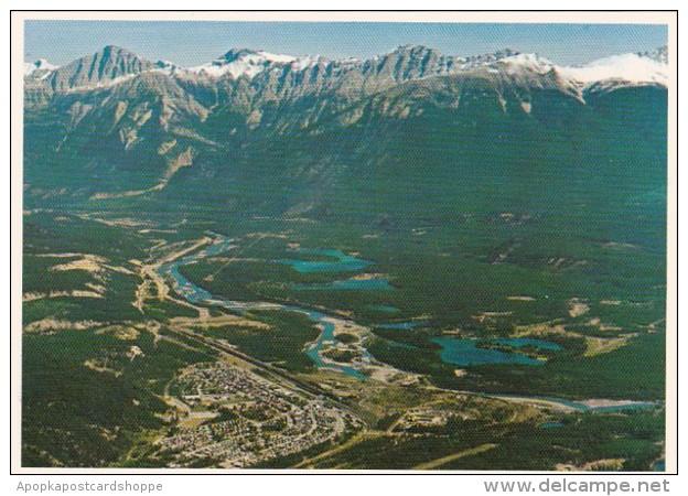 Canada Jasper Aerial View From Jasper Sky Tram