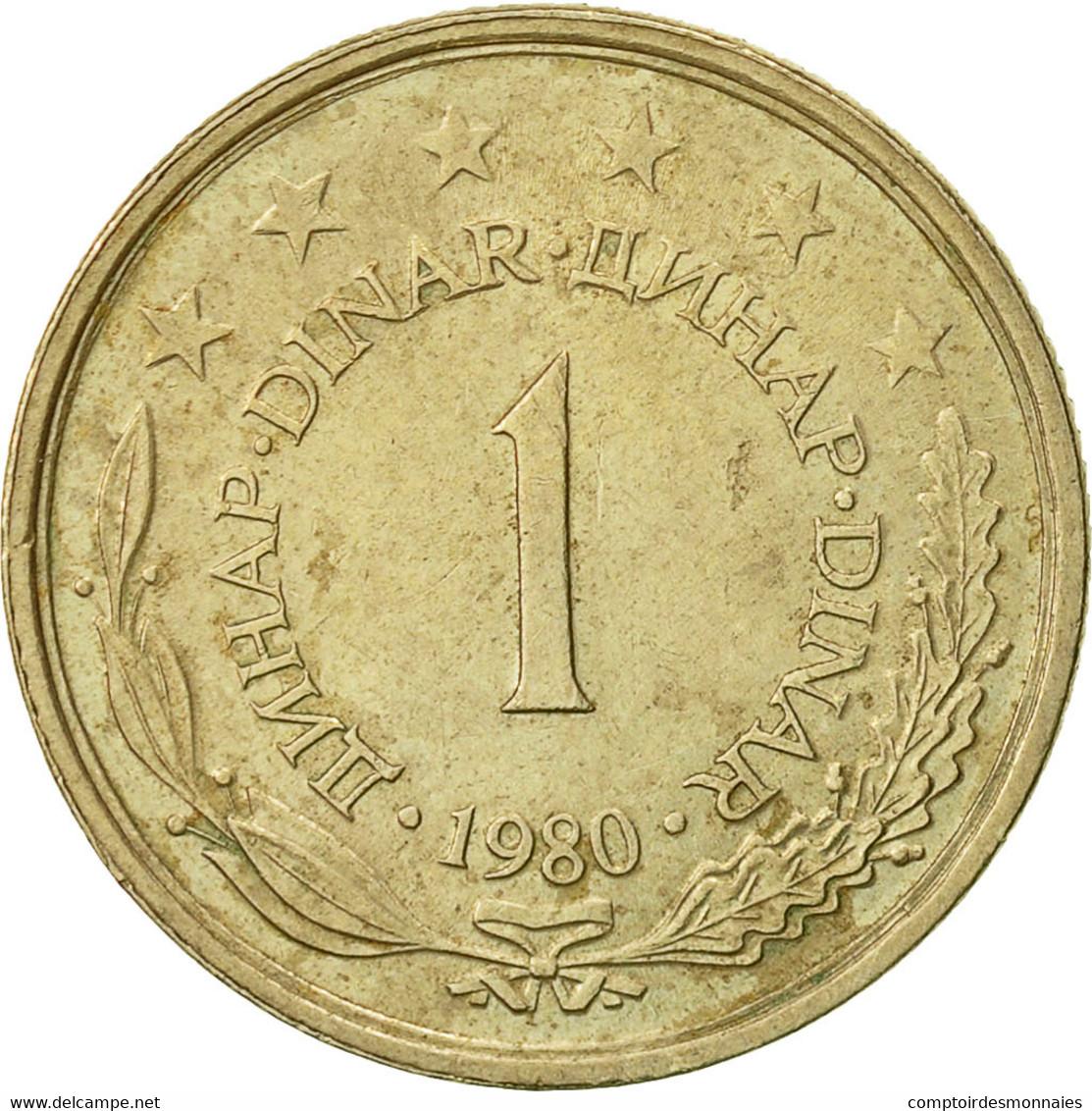 Yougoslavie, Dinar, 1980, TTB, Copper-Nickel-Zinc, KM:59 - Joegoslavië