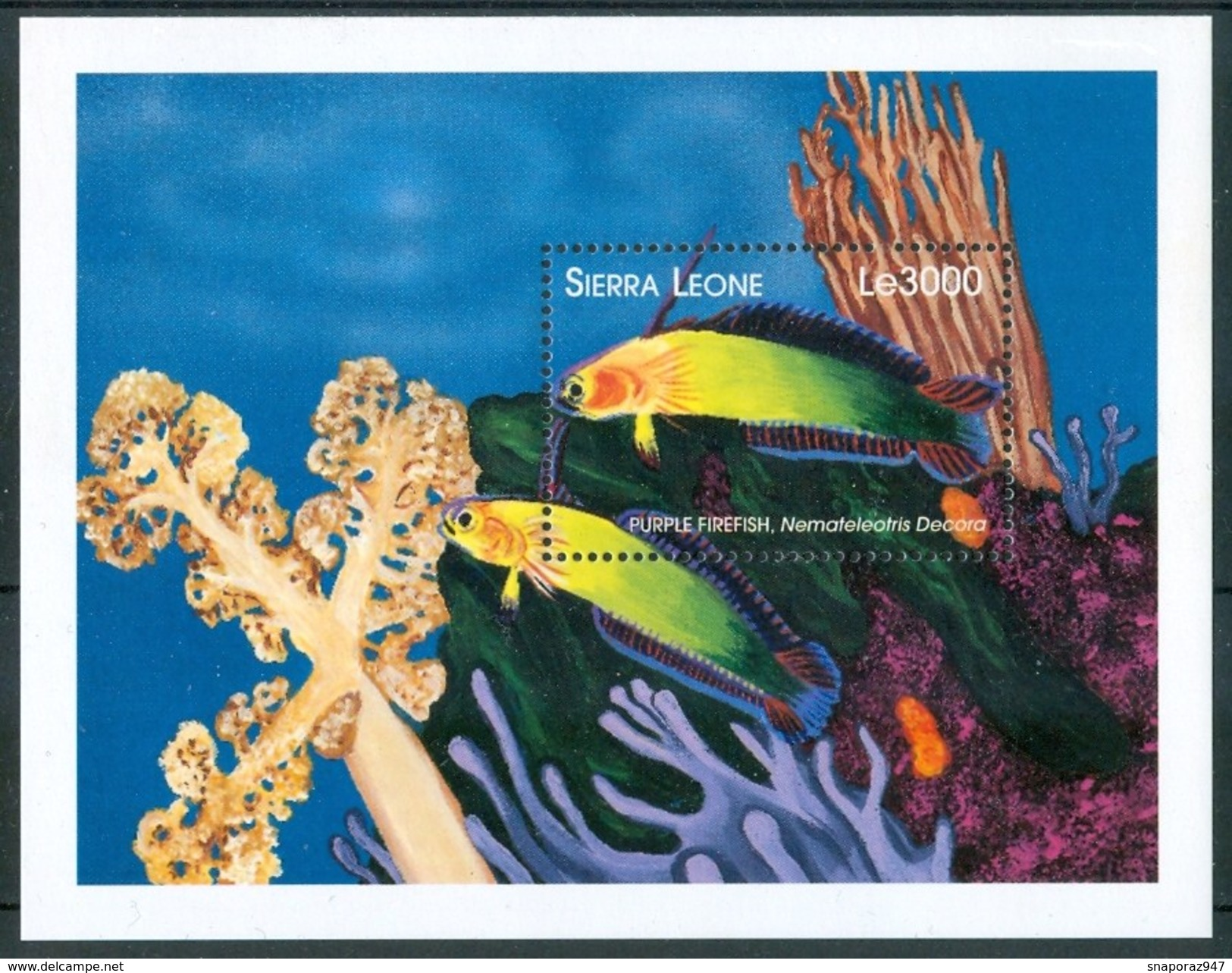 1998 Sierra Leone Pesci Fishes Fische Poissons MNH** - Pesci