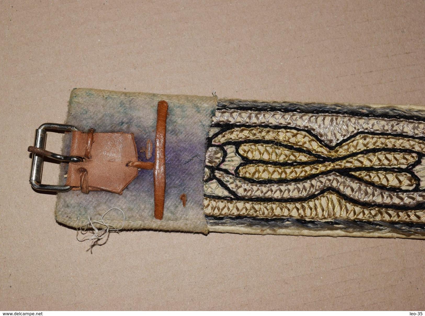 Couteau Ancien Jambiya Avec Ceinture  - Poignard Janbiya Du YEMEN - Knives/Swords