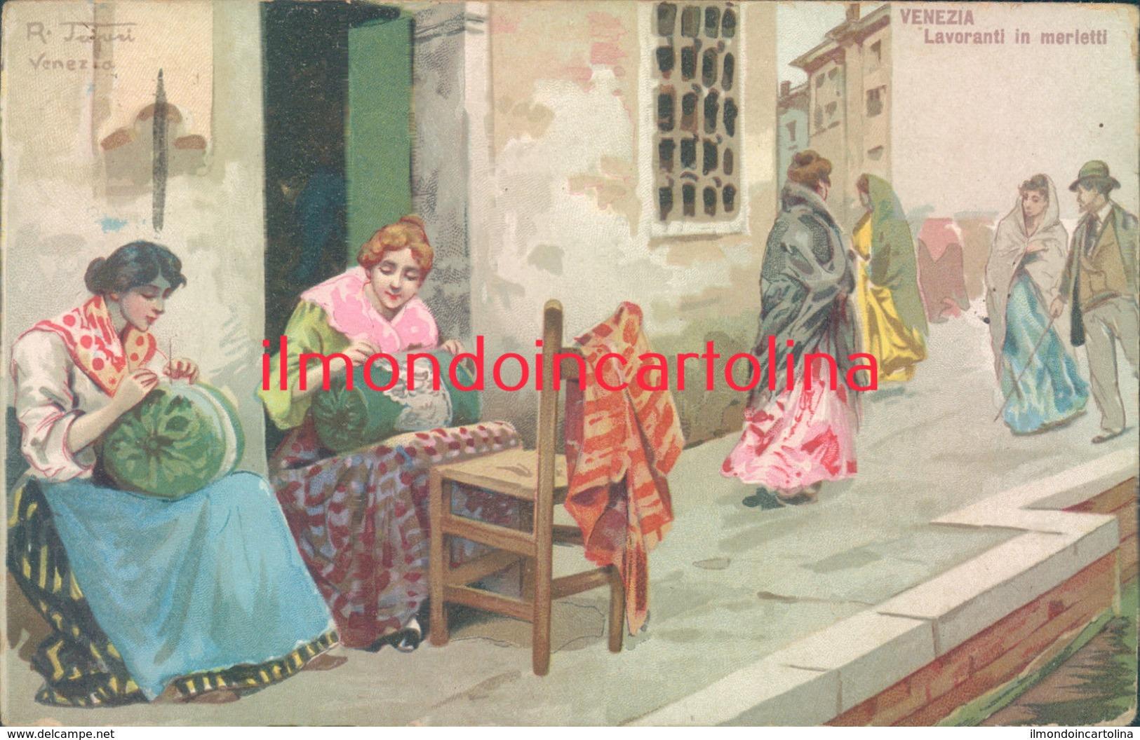 Ae21 - Venezia - Lavoranti In Merletti-illustratore Tafuri - Venezia