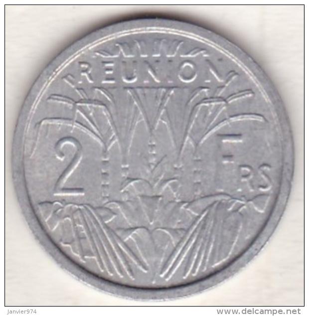 ILE DE LA REUNION. 2 FRANCS 1968 . ALUMINIUM . RARE - Réunion