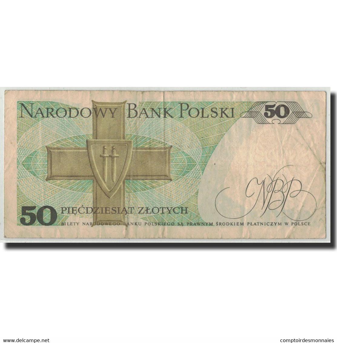 Pologne, 50 Zlotych, 1988, 1988-12-01, KM:142c, B+ - Polonia