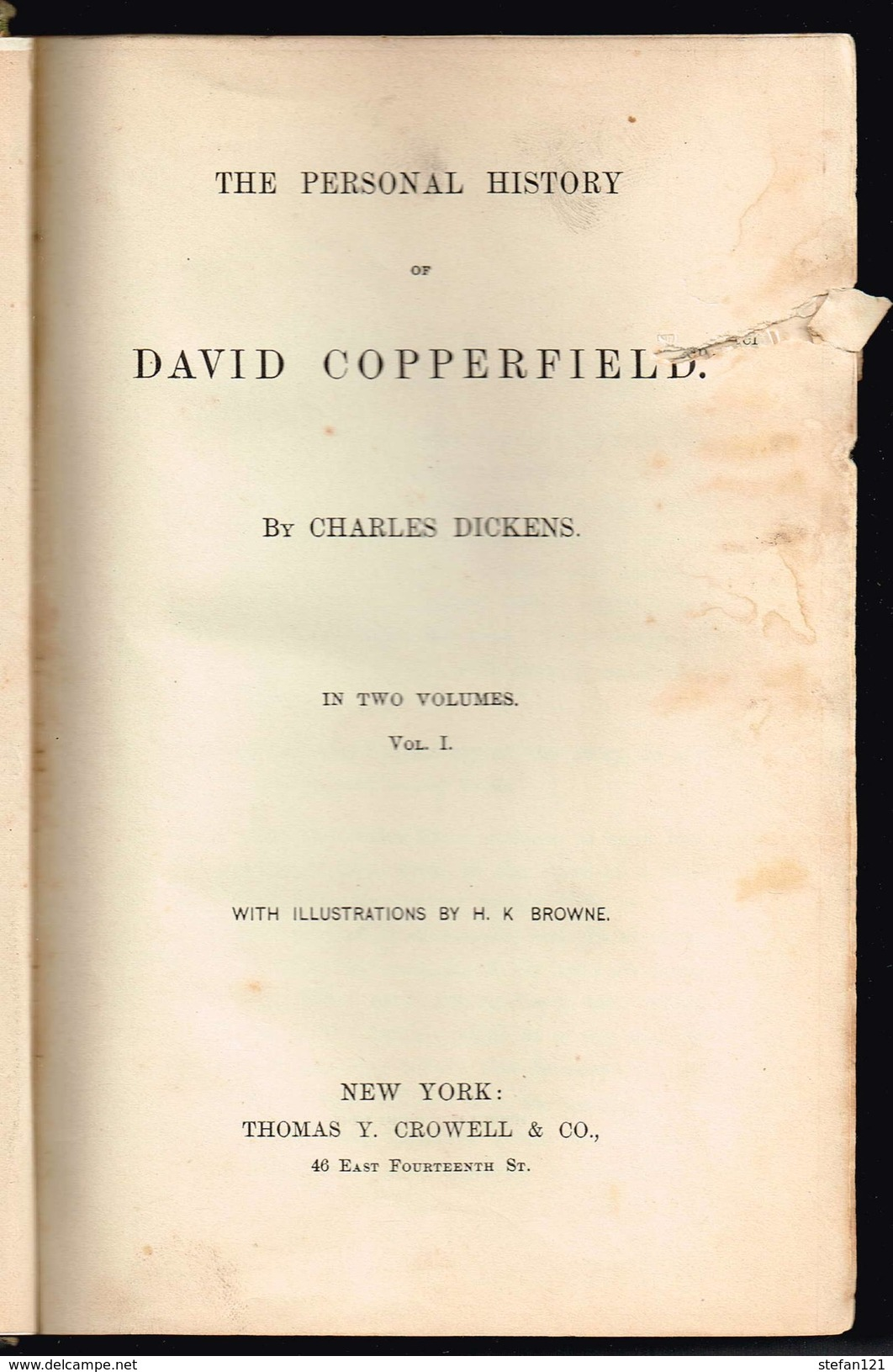 The Personal History Of David Copperfield By Charles Dickens In Two Volumes - - Livres, BD, Revues