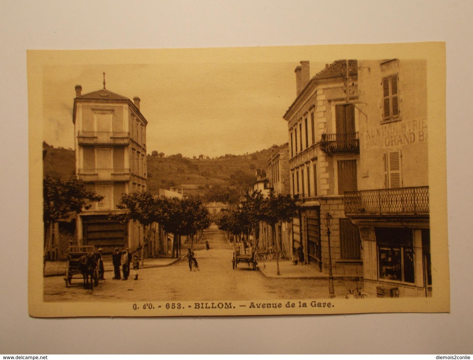 Carte Postale -  BILLOM (63) - Avenue De La Gare (1867) - Autres Communes