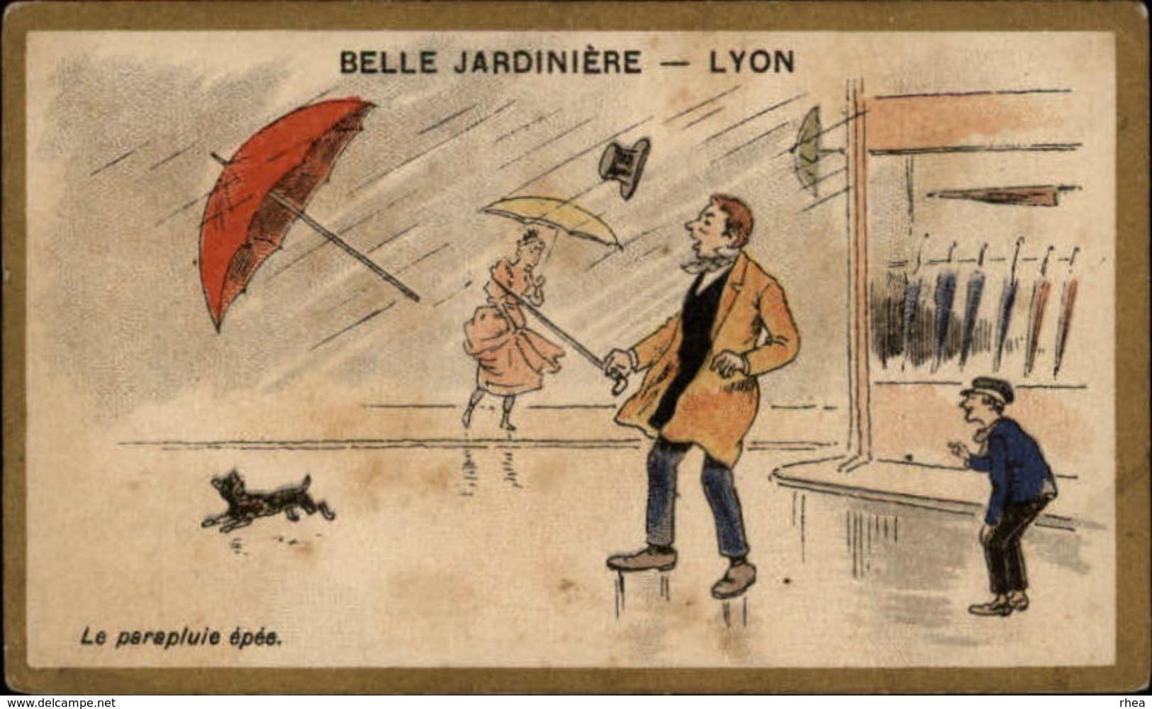 PARAPLUIES - Ombrelle - Parapluie - Couple Chromo Belle Jardinière - Autres