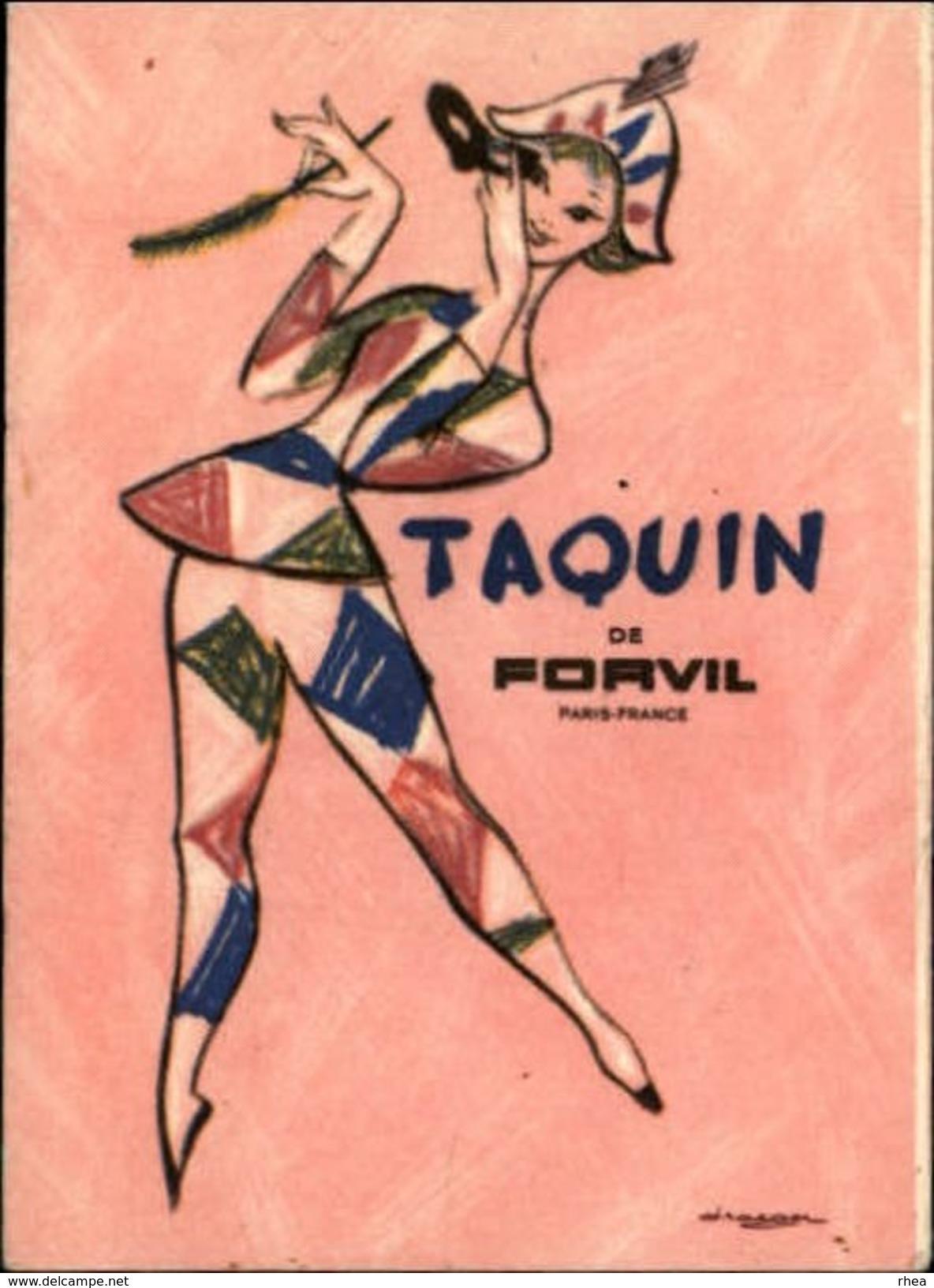 PARFUM - Parfumerie - Taquin De Forvil - Arlequin - Dessin De Draeger - Publicités