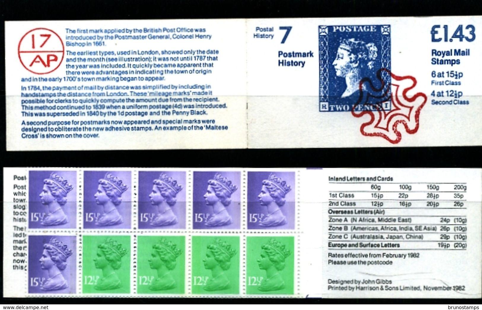 GREAT BRITAIN - 1983  £ 1.43  BOOKLET  2d BLUE  RM  MINT NH  SG FN 6b - Libretti