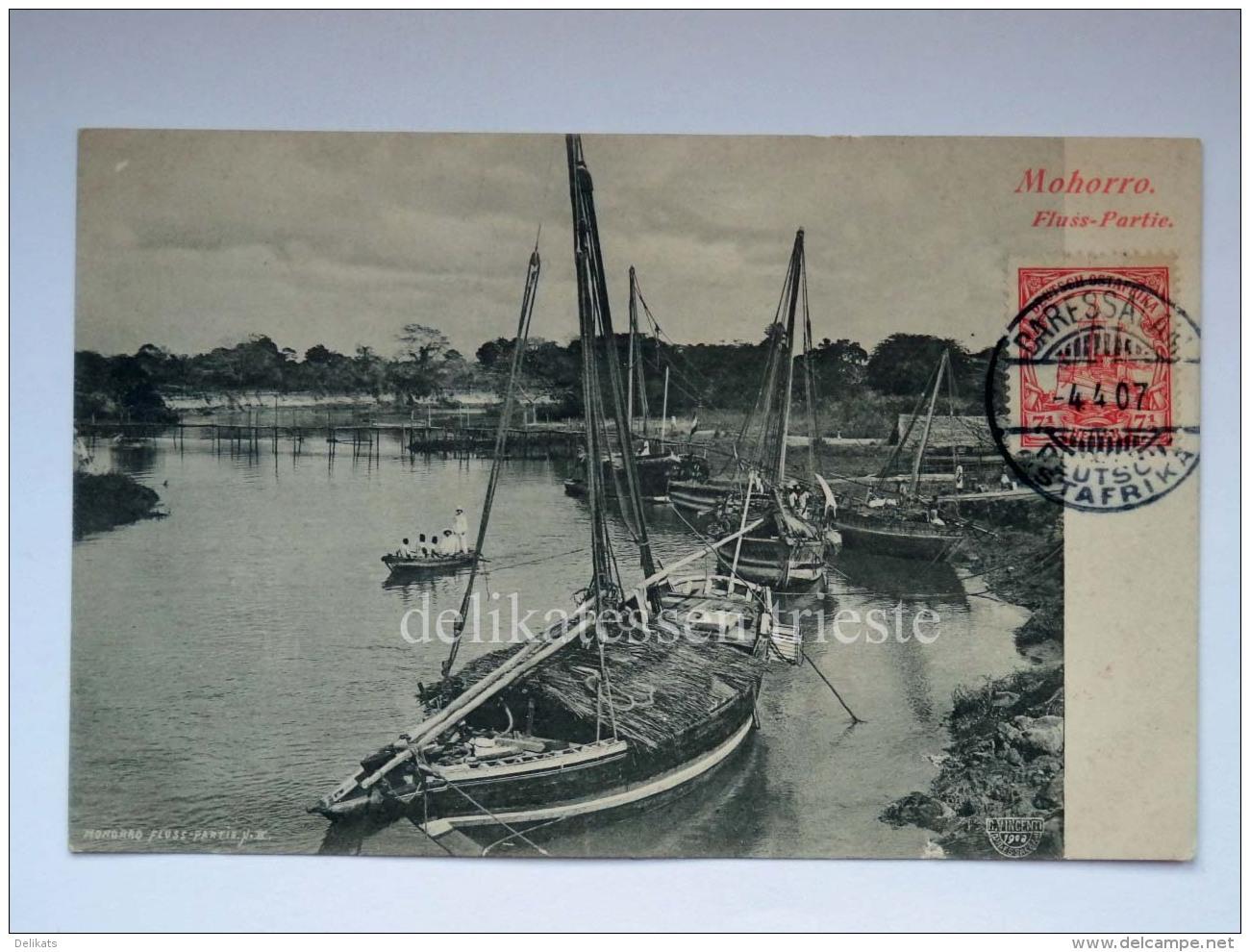 AFRICA DOA Deutsch Ostafrika Colonia MOHORRO Fluss River AK Old Postcard - Burundi