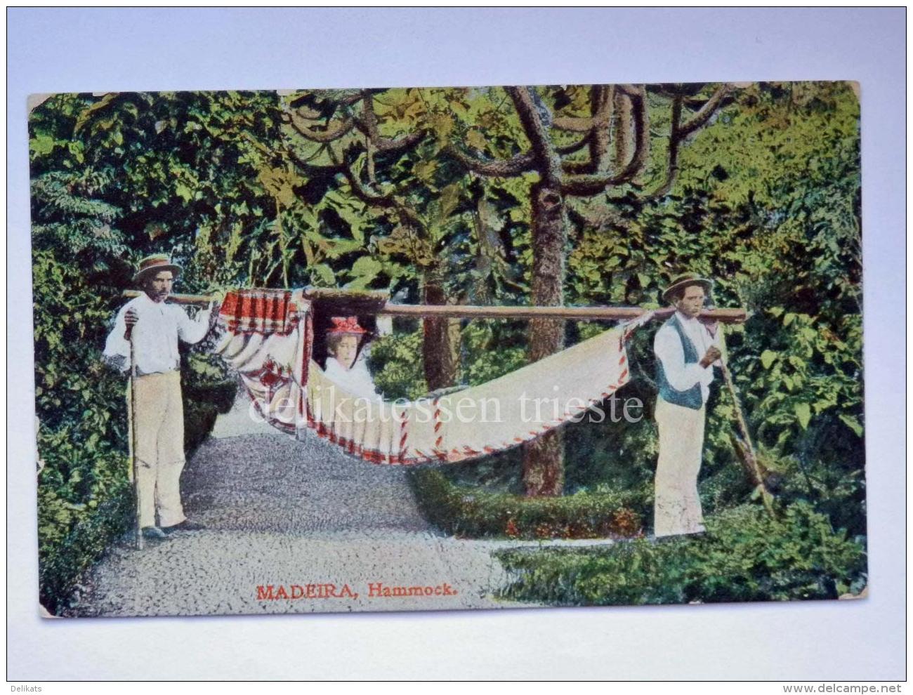 PORTOGALLO PORTUGAL Madeira Hammock Old Postcard - Madeira