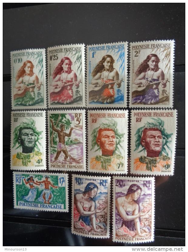 POLYNESIE 1958 Y&T N° 1 à 11 ** -  DIVERS - Ungebraucht
