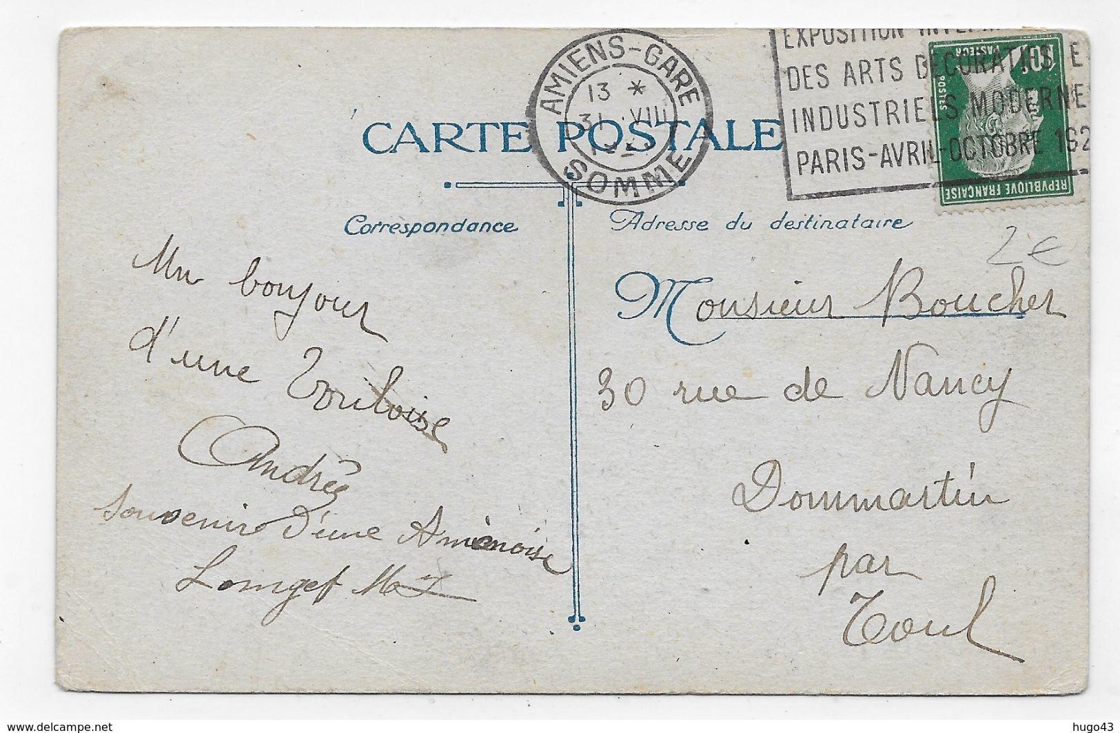 (RECTO / VERSO) AMIENS - N° 398 - UN COIN DU MARCHE SUR L' EAU - LEGERS PLIS ANGLES - CPA VOYAGEE - Amiens
