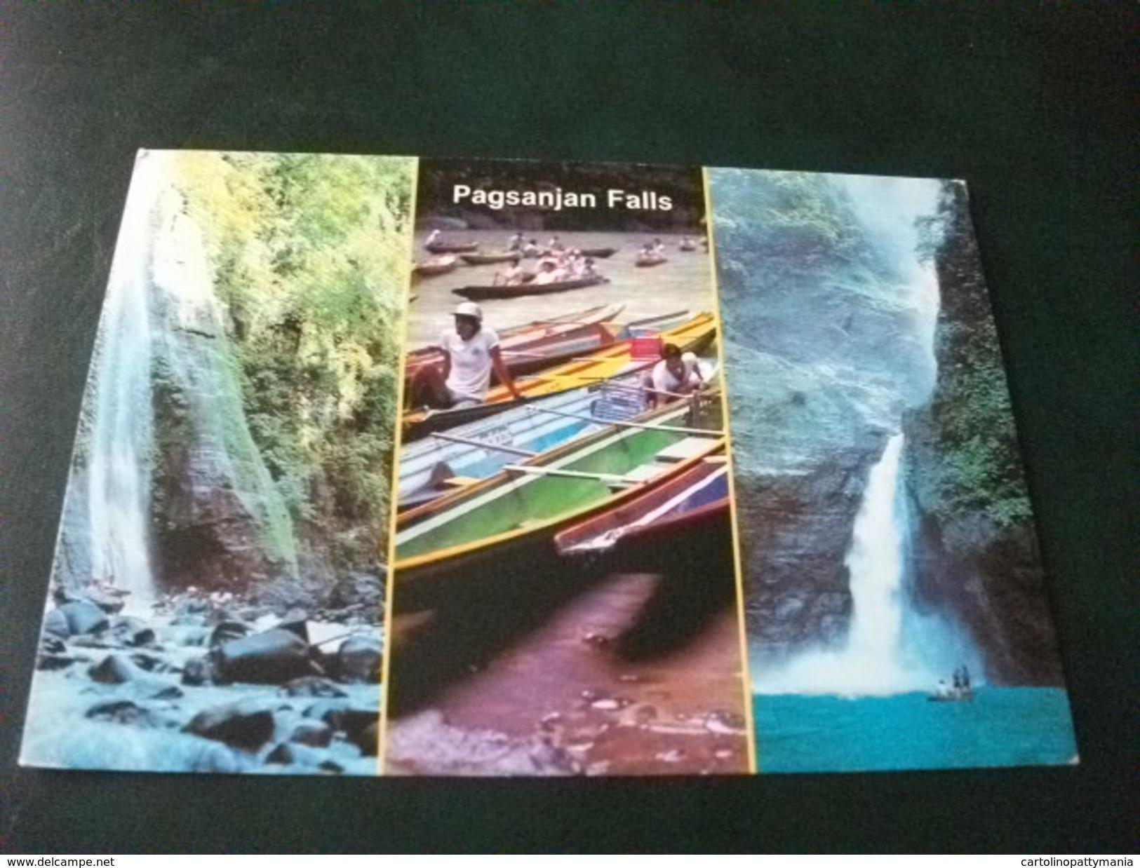 STORIA POSTALE FRANCOBOLLO COMMEMORATIVO PILIPINAS FILIPPINE  PAGSANJAN FALLS  VEDUTE - Filippine