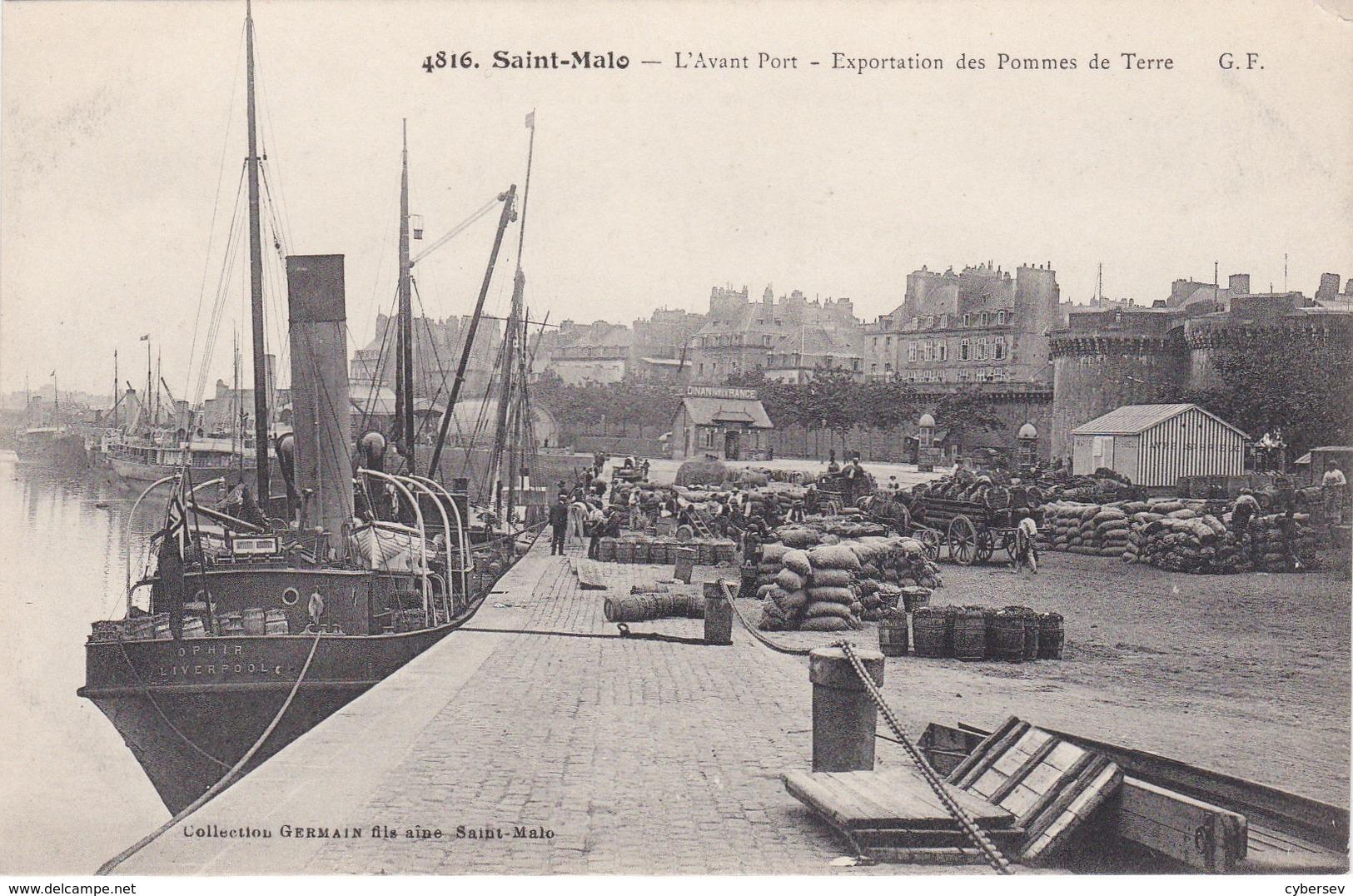 SAINT-MALO - L'Avant Port - Exportation Des Pommes De Terre - Parfait état - Saint Malo