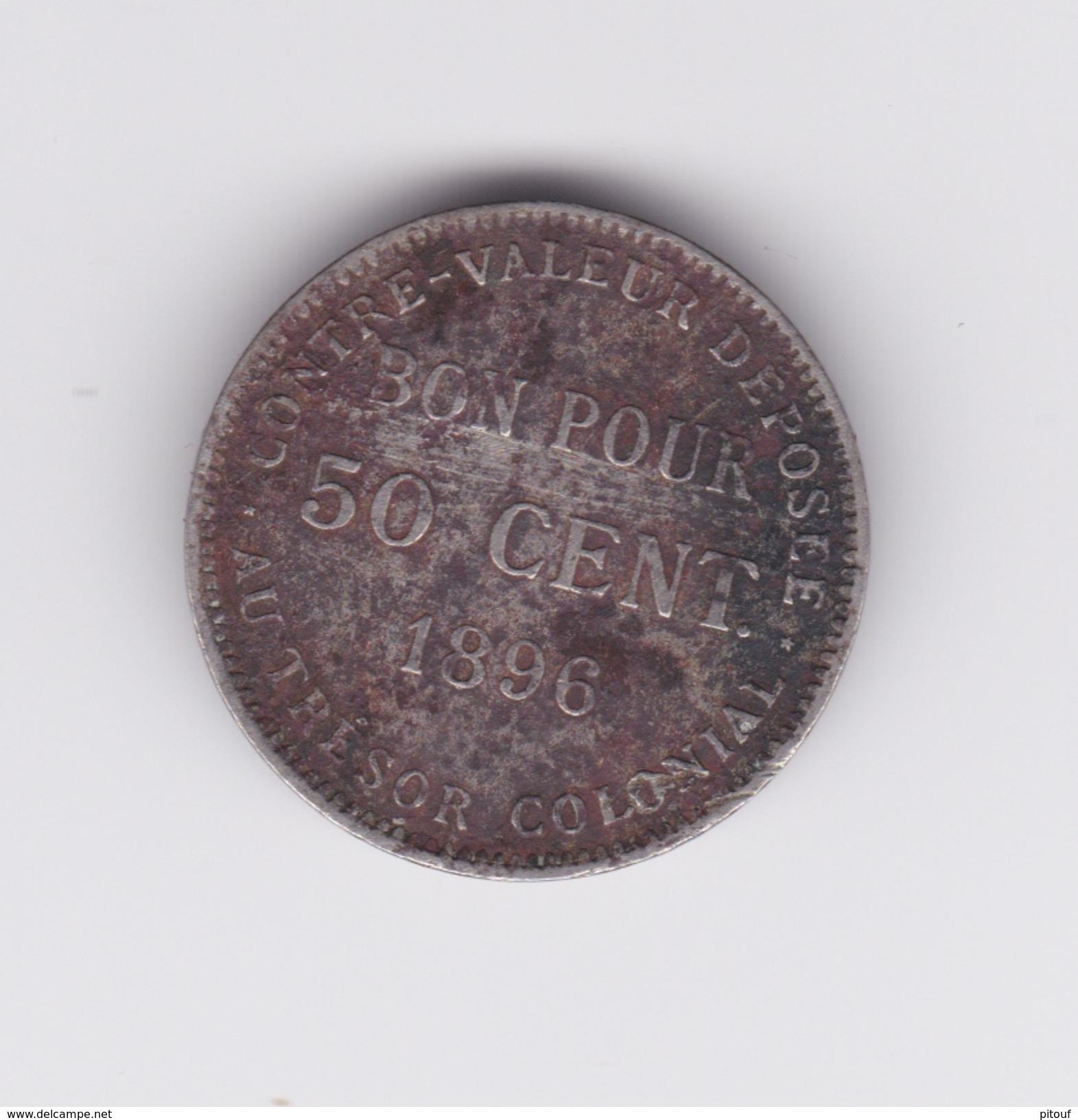 Rare 50 Centimes La Réunion 1896  TB+ à Nettoyer - Réunion