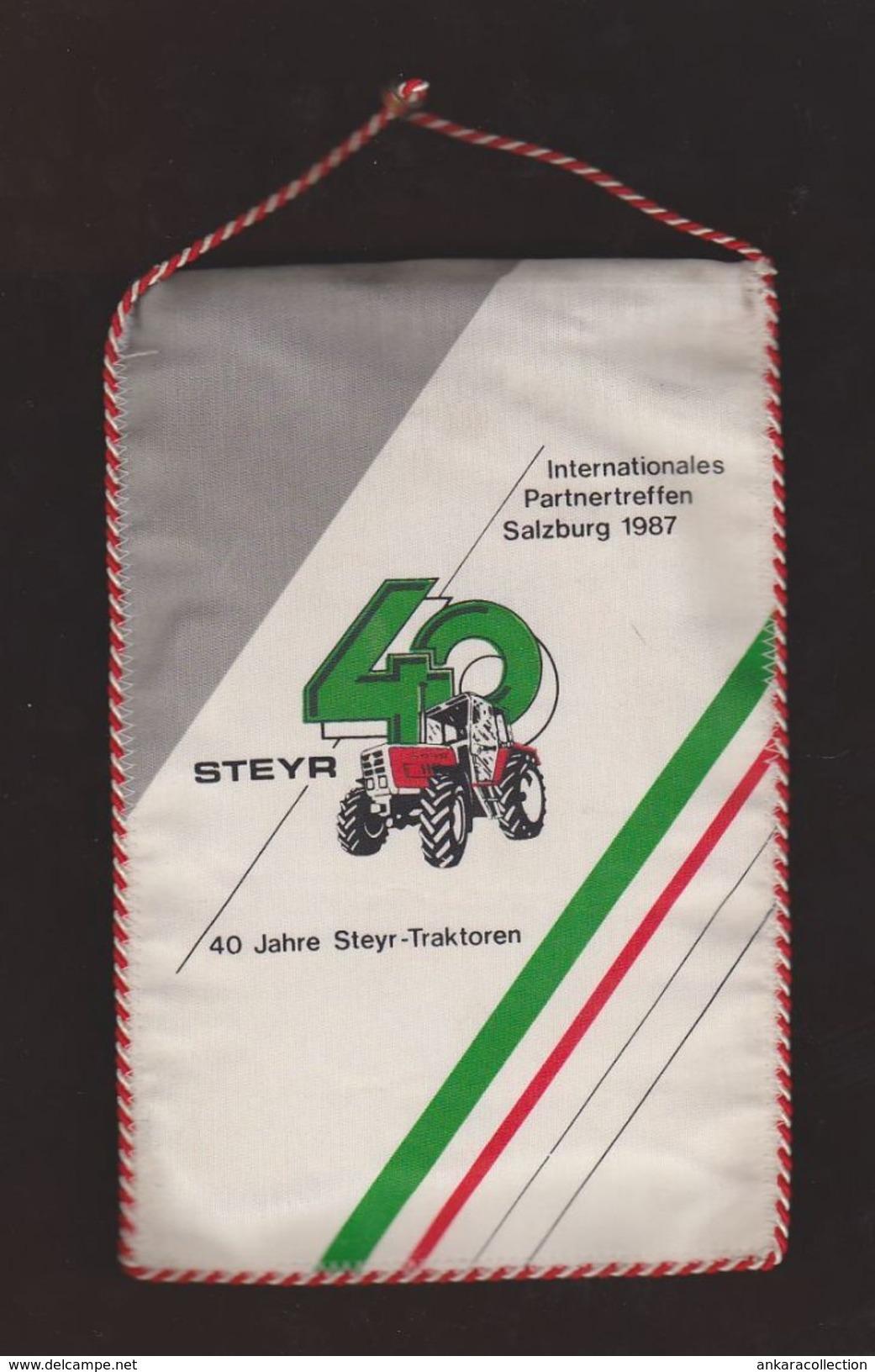 AC -  40th ANNIVERSARY OF STEYR TRACTOR INTERNATIONALES PARTNERTREFFEN SALZBURG 1987 PENNANT - Tractors