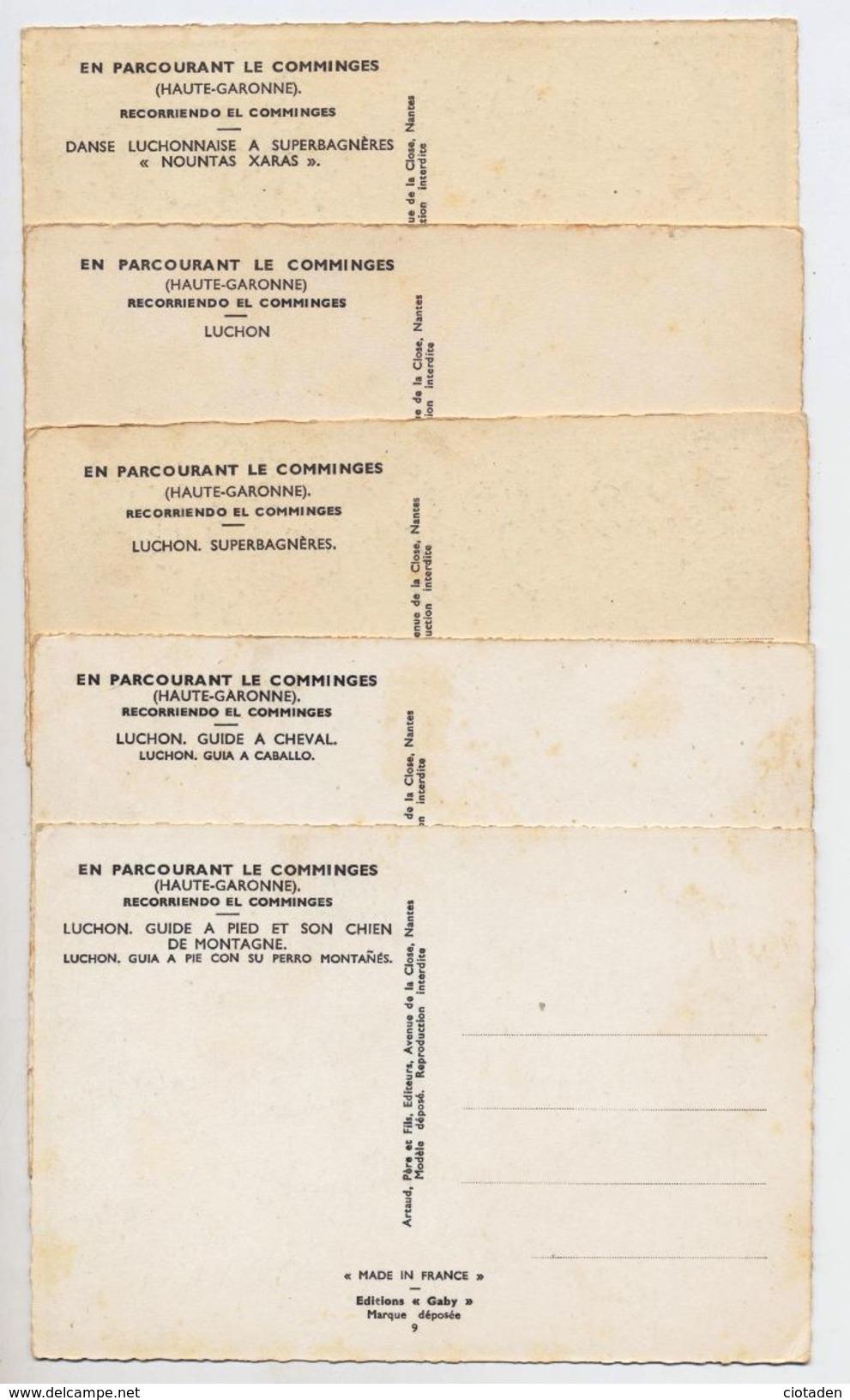 En Parcourant Le Comminges (Haute Garonne - France) - Luchon - 5 Cartes Postales Neuves. - Europe