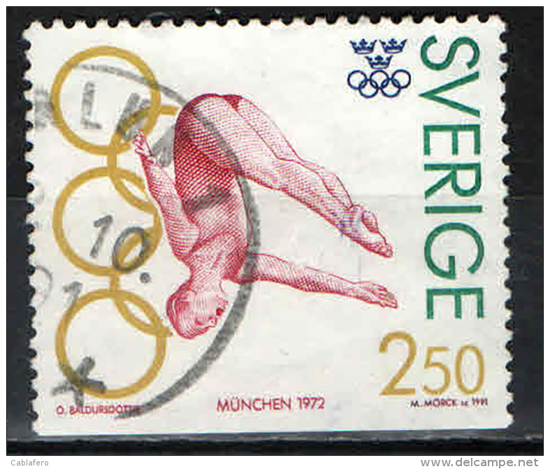 SVEZIA - 1991 - ULRIKA KNAPE - VINCITRICE ALLE OLIMPIADI - USATO - Oblitérés