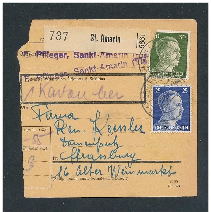 Heimat Beleg -Paketkarte Aus Dem Elsass........ ( T8564  ) Siehe Scan ! - Briefe U. Dokumente