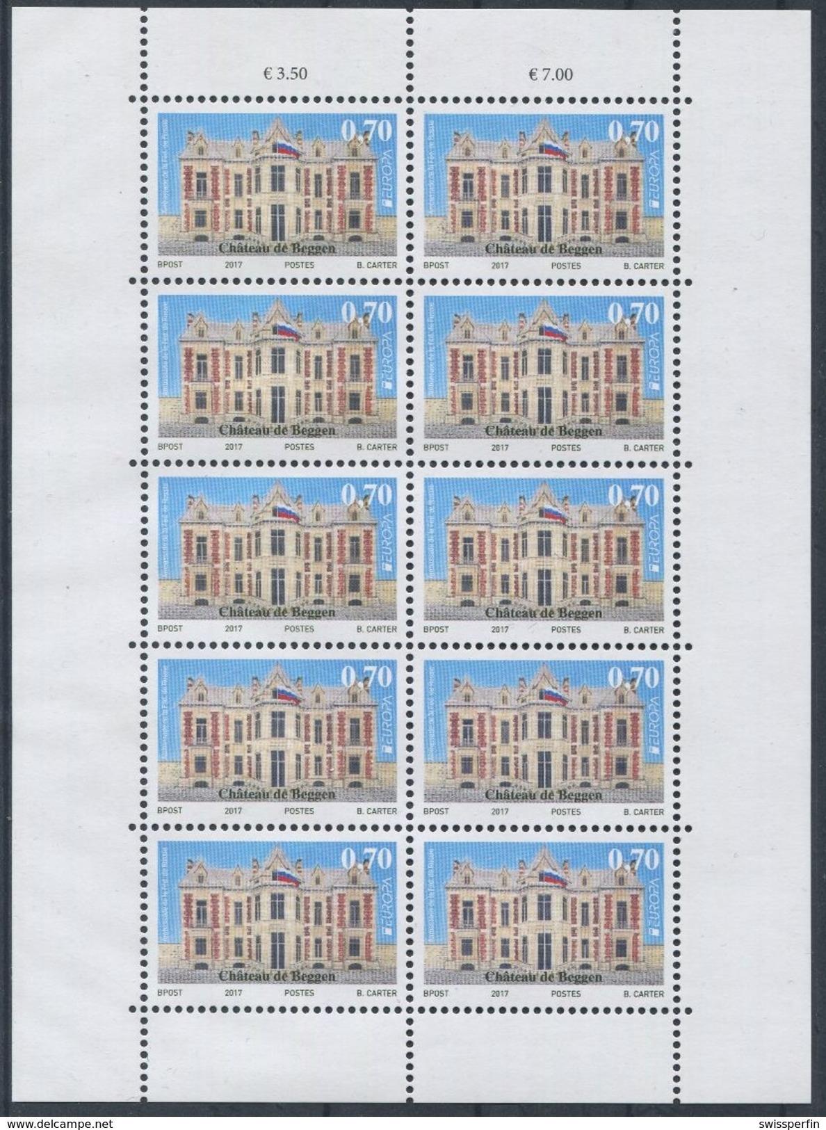 1705 - Luxemburg Europa CEPT 2017 Im Kleinbogen, Zurückgezogene Ausgabe!!! - Ganze Bögen