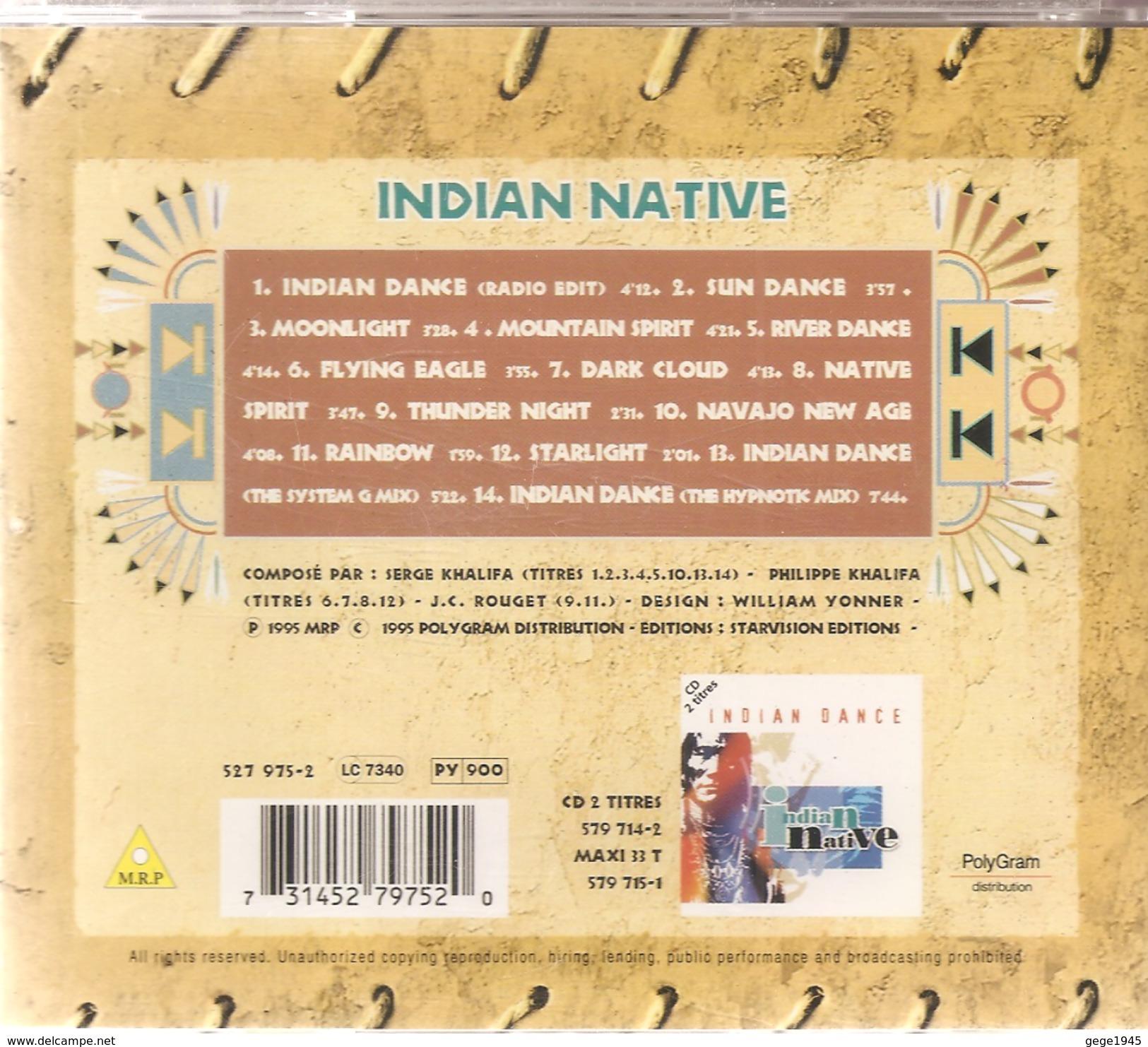 CD     Indian  Native    De  1995   Avec  14  Titres - Música & Instrumentos