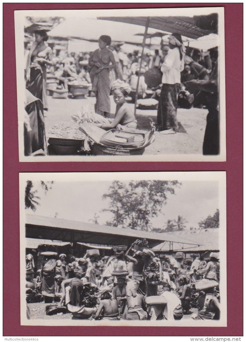 301017 - 2 PHOTOS Années 1930 - à  Situer - Au Marché Seins Nus - Cartes Postales