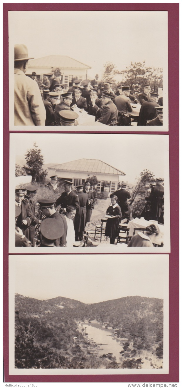 301017 - 6 PHOTOS ANNÉES 1930 - ASIE - à Situer - Militaire Montagne Paysage - Cartes Postales