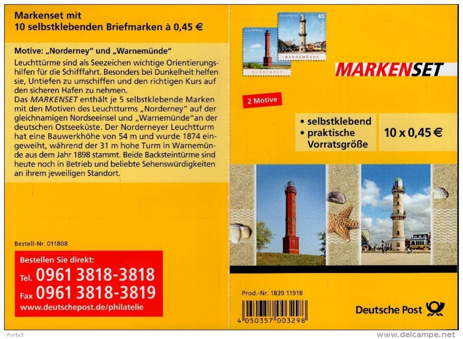 Markenheftchen Bund Postfr. MH 86 Leuchttürme MNH ** - [7] West-Duitsland