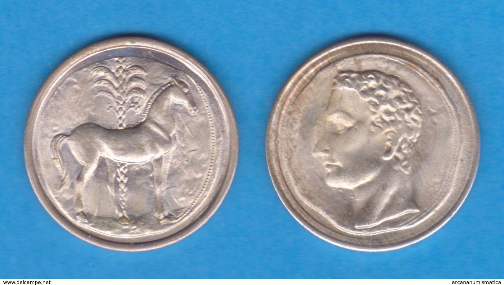 HISPANIA CARTAGONOVA 220 - 205 A. C.  SICLO  -  PLATA  - Réplica  SC/UNC    T-DL-12.149 - Antiguas