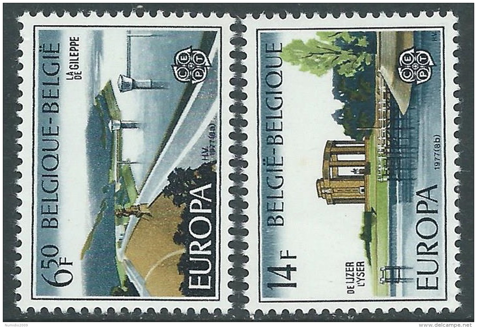 1977 EUROPA CEPT BELGIO MNH ** - R36-2 - 1977