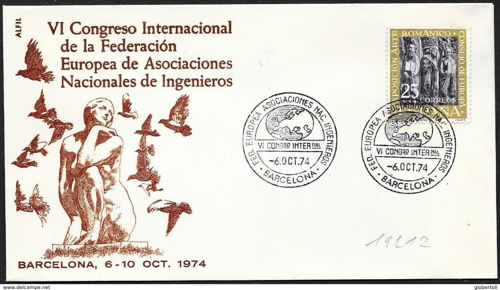 Spagna/Spain/Espagne: Associazione Ingegneri, Association Des Ingénieurs, Association Of Engineers, Mappa, Map, Carte - Berufe