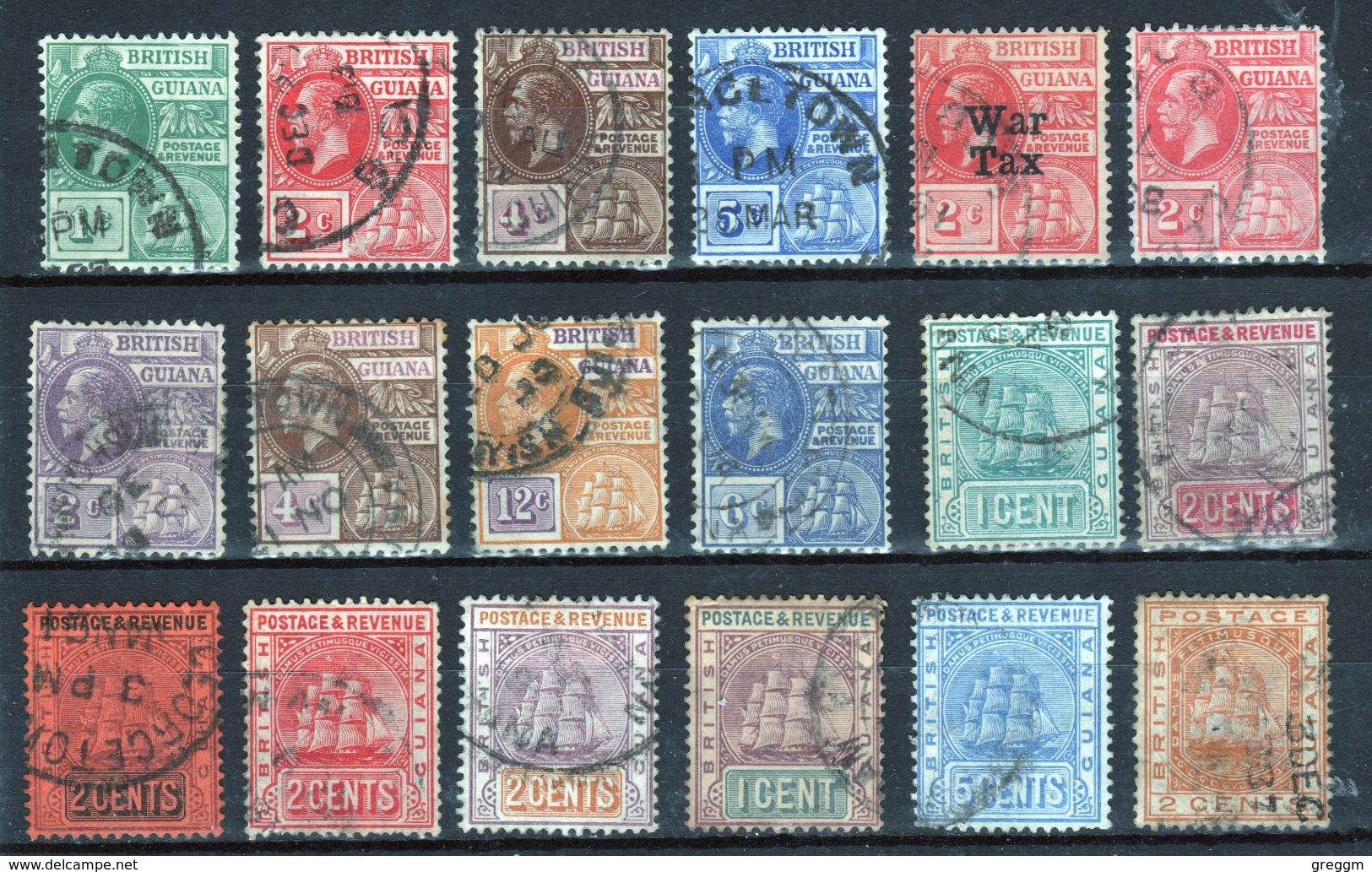 British Guiana Small Selection Of Early Definitives - British Guiana (...-1966)